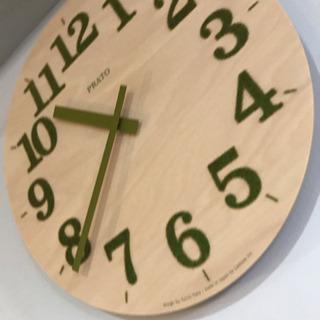木製 掛け時計 グリーン ナチュラル インテリア