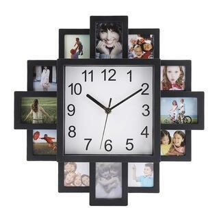 壁掛け時計 フォトフレーム付掛け時計
