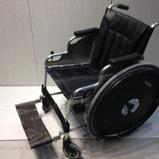 ■Z656■NICK 車椅子 自走式 黒 ブラック 車イス 折り...