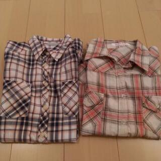 チェックシャツ 2枚セット