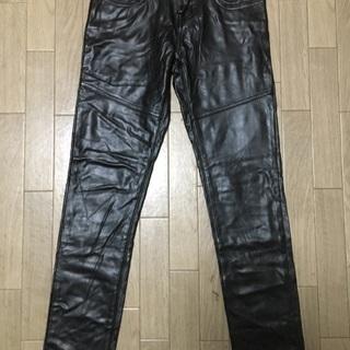 GALSTAR のレザー風ストレッチパンツ 黒 のLサイズ
