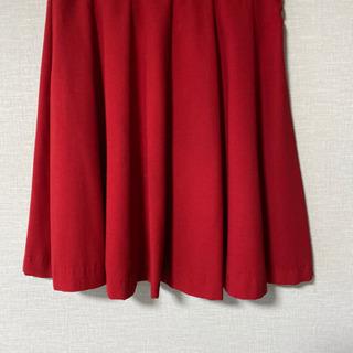フレアスカート 赤色 差し上げます