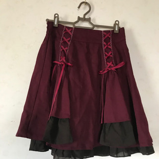 axesfemmeのスカート(ボルドー)