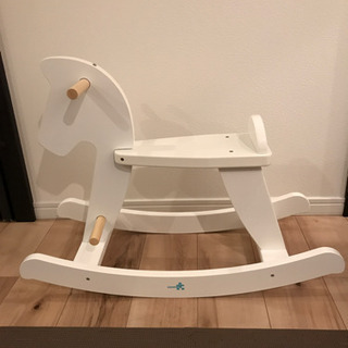 【子供おもちゃ】白い木馬