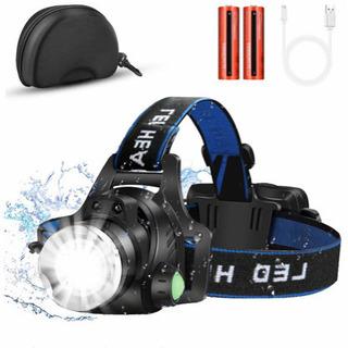 LEDヘッドライト USB充電 専用ケース付き