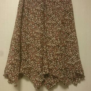 花柄スカート フレア