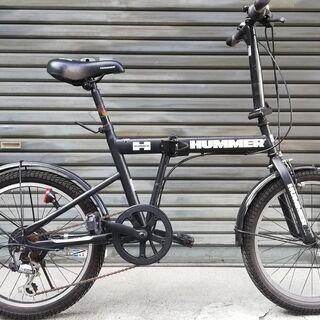 HUMMER ハマー 折りたたみ自転車 20インチ(20x2.2...