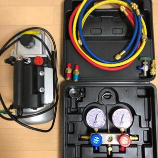 エアコン真空引きポンプセットの画像