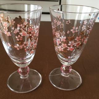 グラス 桜 和柄 中古美品
