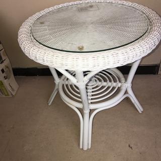 【178】ニトリのラタンテーブル・サイドテーブル・カフェテーブル