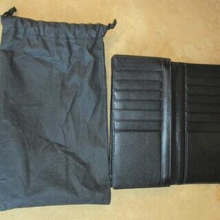 ☆大人の雰囲気を醸し出す長財布 メンズ ブラック◆革財布調でかっこいい