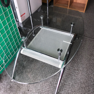 【181】ガラステーブル・102×58×40cm