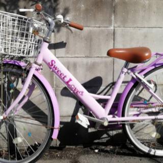 女の子24インチ自転車
