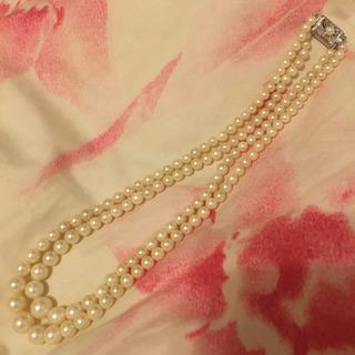 2連真珠ネックレス 本真珠 SILVER パールネックレス