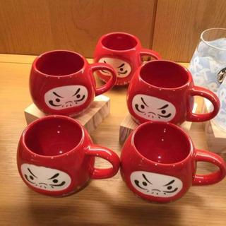 [買取]スタバ  赤 だるま マグカップ