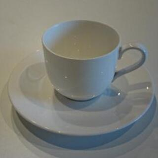 白  コーヒーカップ10組+ソーサー8枚