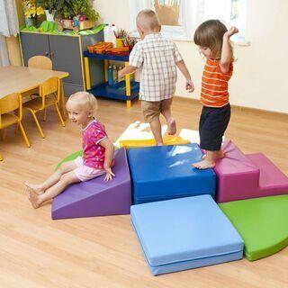 ★遊具★乗れる大きなブロックセット!室内、キッズコーナー、保育園...