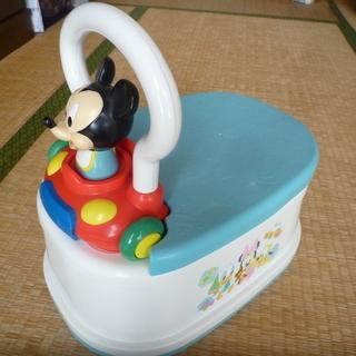 オマル・ステップ ミッキーマウス メロディー付き 中古美品