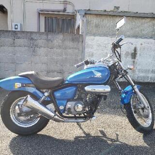 実働!美車!HONDA マグナ50 ブルー 原付バイク