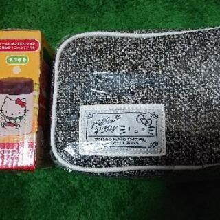 値下げハローキティ スープジャーピンク&ポーチセット