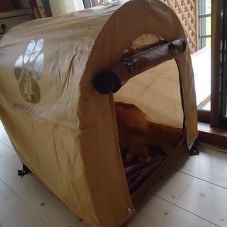 犬テント(ソフトクレート) 折り畳み式 WOODS for Dog