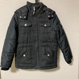 美品!140cm  フード付き中綿ジャケット