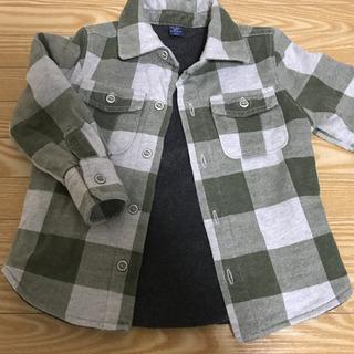 GAP チェックシャツ 厚手 フリース素材 90サイズ