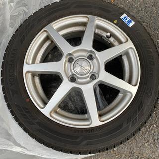 美品スタッドレスタイヤホイール4本セット 155/65/14 Y...