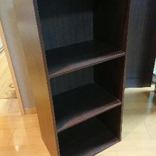 【無料お譲り】ニトリ 3段カラーボックス カラボ (ダークブラウン)