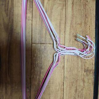 針金ハンガー ピンク 10本