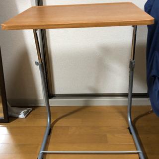 【値下げ】角度調整付折りたたみサイドテーブル