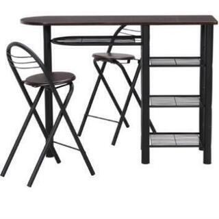 カウンターテーブルと椅子のセット