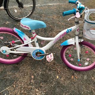 18インチ 幼児用 自転車 補助輪ありスタンド付き