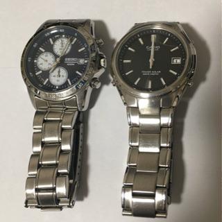 SEIKOクロノグラフ、CASIO電波ソーラー腕時計