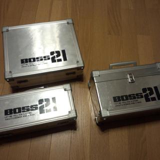 アルミケース 3種セット 元はカセットやCD収納用 工具入…