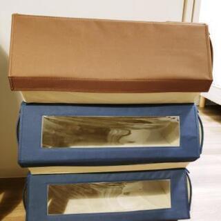 ふた付きカラーボックス、衣装ケース3個セット