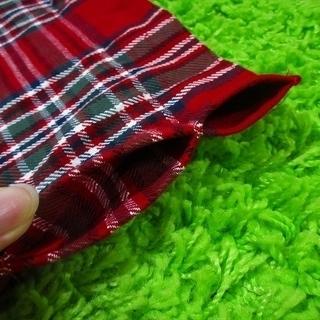 ■至急です!■ハンドメイド■赤いタータンチェック柄のカーテン2枚組■北欧・カントリー■ − 大阪府