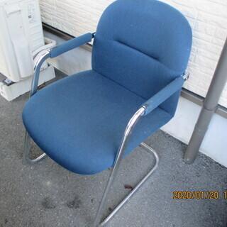 布張りのスチール製 椅子あげます