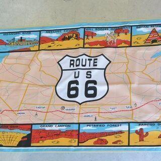 ルート66 海外購入 MAPバナー【ROUTE US 66】壁に...