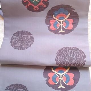 中古:正絹袋帯 鼠色