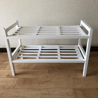 木製ラック ホワイト