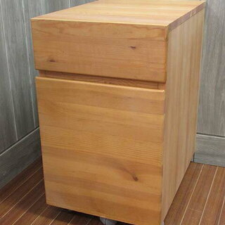 ss0700 木製 袖机 ナチュラル サイドキャビネット チェス...