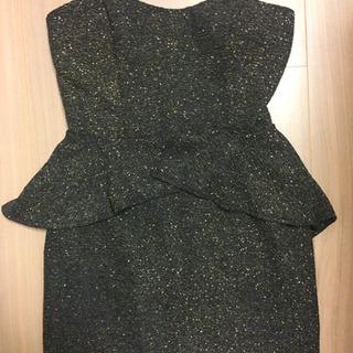 【ドレス】 チューブトップ タイトドレス