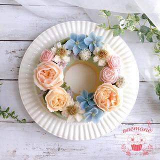 あんこのお花で作るケーキ♡あんフラワーケーキ教室