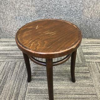 管18木製丸椅子