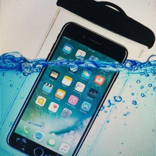スマホ 防水 ケース ^^携帯 ストラップ付 透明です。