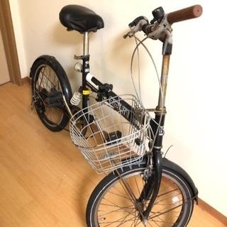 折り畳み自転車 黒