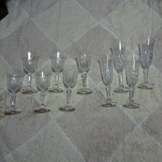 ワイン・シャンパン バカラ風グラスセット