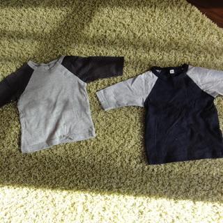 個別売り可能 七分丈 Tシャツ 80
