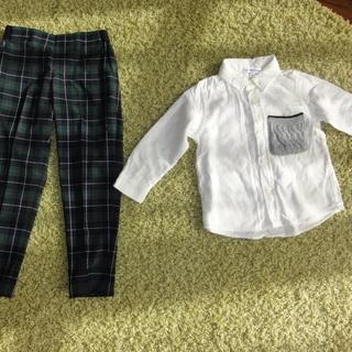個別売り可能 チェックパンツ Yシャツ 90~100と110